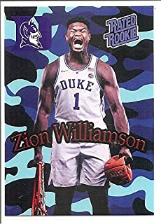 Zion Williamson Duke Blue Devils 2018-19 Camo Crushed Ball Rated Rookie Basketball Card #1