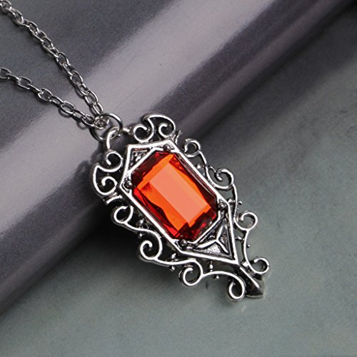 LAOLEE Isabelle Lightwood's Ruby Pendant Necklace,The Mortal Instruments City of Bones,Personalised Necklace Gift for Man Woman
