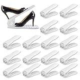 YIHATA Organizador Zapatos Organizador de Zapatos Organizador Calzado Apilable Apilador de Zapatos Soportes para Zapatos (16 pieces, Blanco)