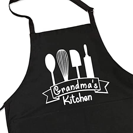 christmas gift grandmother gift custom apron kitchen apron birthday birthday gift linen apron chef apron grandmother Grandmother
