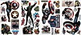 Marvel Superheroes Comic - Avengers Movie - Captain America Movie Wall Decal Sticker Party Room Decor