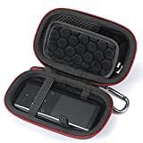 MP3 & MP4 Player Hard Carrying Case Compatible with SOULCKER/G.G.Martinsen/Sony NW-A45 /B Walkman and Other Music Players. Fit for Earbuds, USB Cable, Memory Card(Case Only) Black(Black Lining)