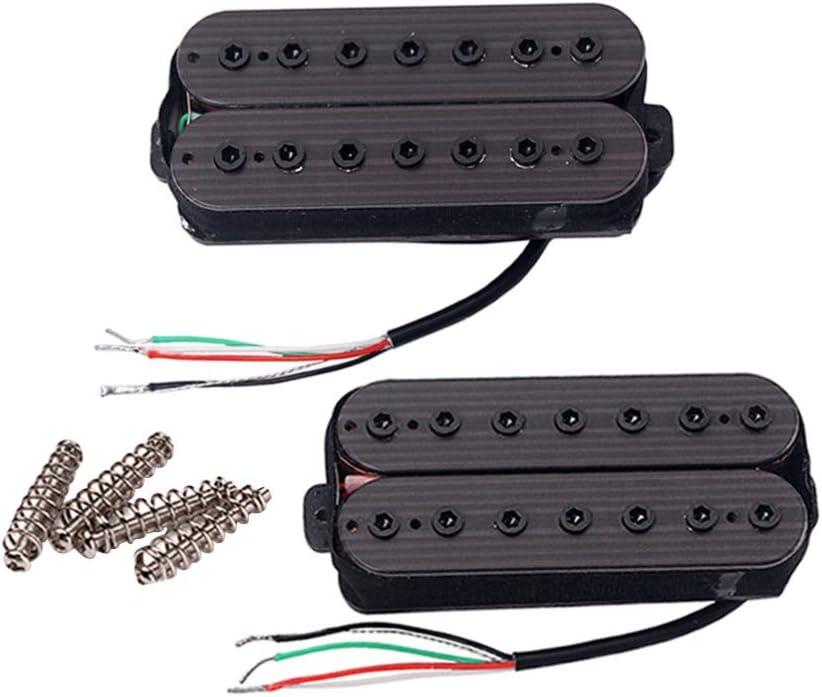 SUPVOX Pastillas de puente de mástil de palo de rosa de 2 piezas de 7 cuerdas para guitarra (negro)