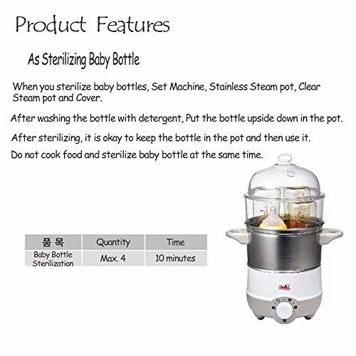DELKI DKH-301 Multi Vita Steamer and Baby Bottle Sterilizer 220V Stainless Steel