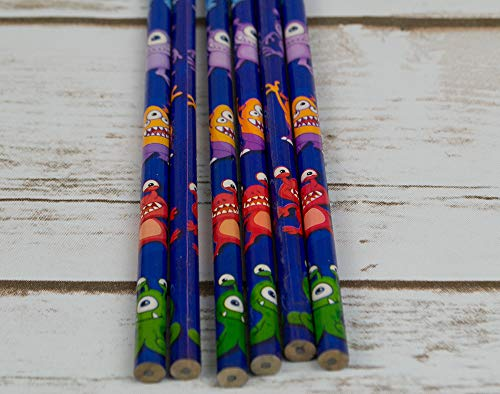 Crayons Monstres - remplissage des sacs de fête, lot de 6