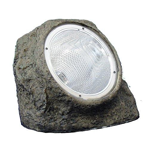 LED Solarleuchte Steinoptik, 4 LEDs, Lichtsensor, 13x12x8cm