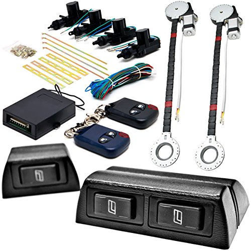 Biltek 2x Door Car Power Window + Keyless Door Unlock Kit Compatible with Oldsmobile/Hyundai Accent Elantra XG300 XG350 88