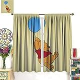 DRAGON VINES Winnie-the-Pooh - Cortinas opacas para dormitorio, supersuaves, con...