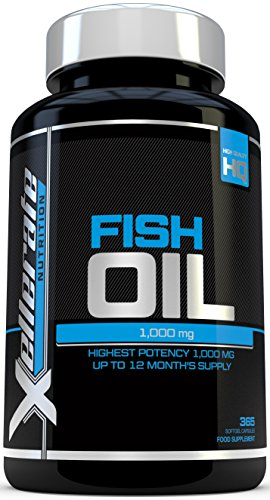 Omega 3 Fish Oil 1000mg | 365 Softgels | UK Manufactured | High...