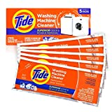 Washing Machine Cleaner by Tide, Washer Cleaning Tablets for Front and Top Loader Machines, New Milder Scent, 5 Count Box