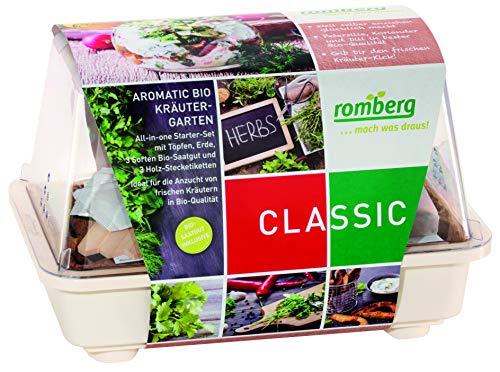 Romberg AROMATIC BIO Kräutergarten (mit Gewächshaus, Anzuchttöpfen und Kräutersamen) 10094227
