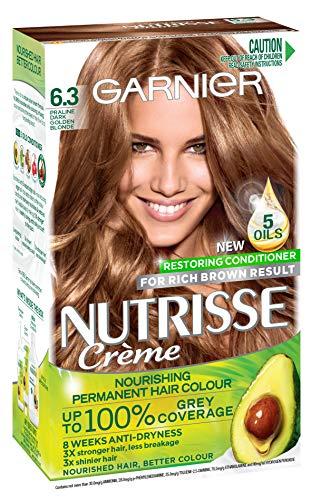 Garnier Nutrisse Permanent Hair Colour 6.3 Praline Dark Golden Blonde