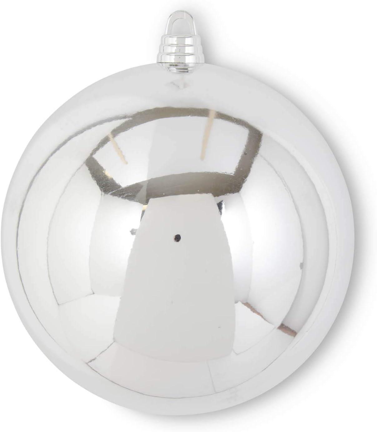 KK Interiors 54104F-SI 14.5 Inch Shiny Arlington Mall Silver Shatterproof Selling Orna