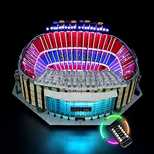 HYQX Kit de luces LED RC para Lego 10284 Camp Nou FC Barcelona Stadion, juego de iluminación de luces compatible con Lego 10284 (juego de luces LED solamente, sin kit de lego) (RC)