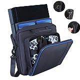 Yolispa Carry Bag Travel Case with Adjustable Shoulder Strap Large Capacity Multifunctional Handbag for Playstation 4 PS4 Console