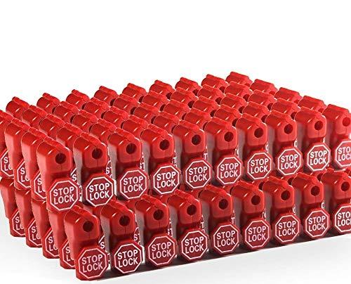 Cedmon 50 Pcs 6mm Anti-Theft Retail Security Stop Lock Anti Sweep Hook Lock for Pegboard Slat Wall