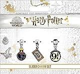 Juego de dijes chapado en plata de Harry Potter – Hogwart's Express, boleto de tren, plataforma 9...