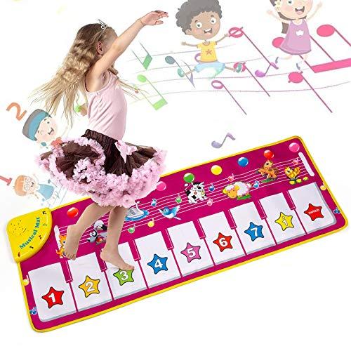 MOOKLIN ROAM Tapis Musical Bébé,Tapis de Jeu pour Piano,Touch Jouet de Tapis de Musique pour Piano pour Enfants Cadeau pour garçons et Filles 1+ Ans (100*36 cm / 39*14 in)