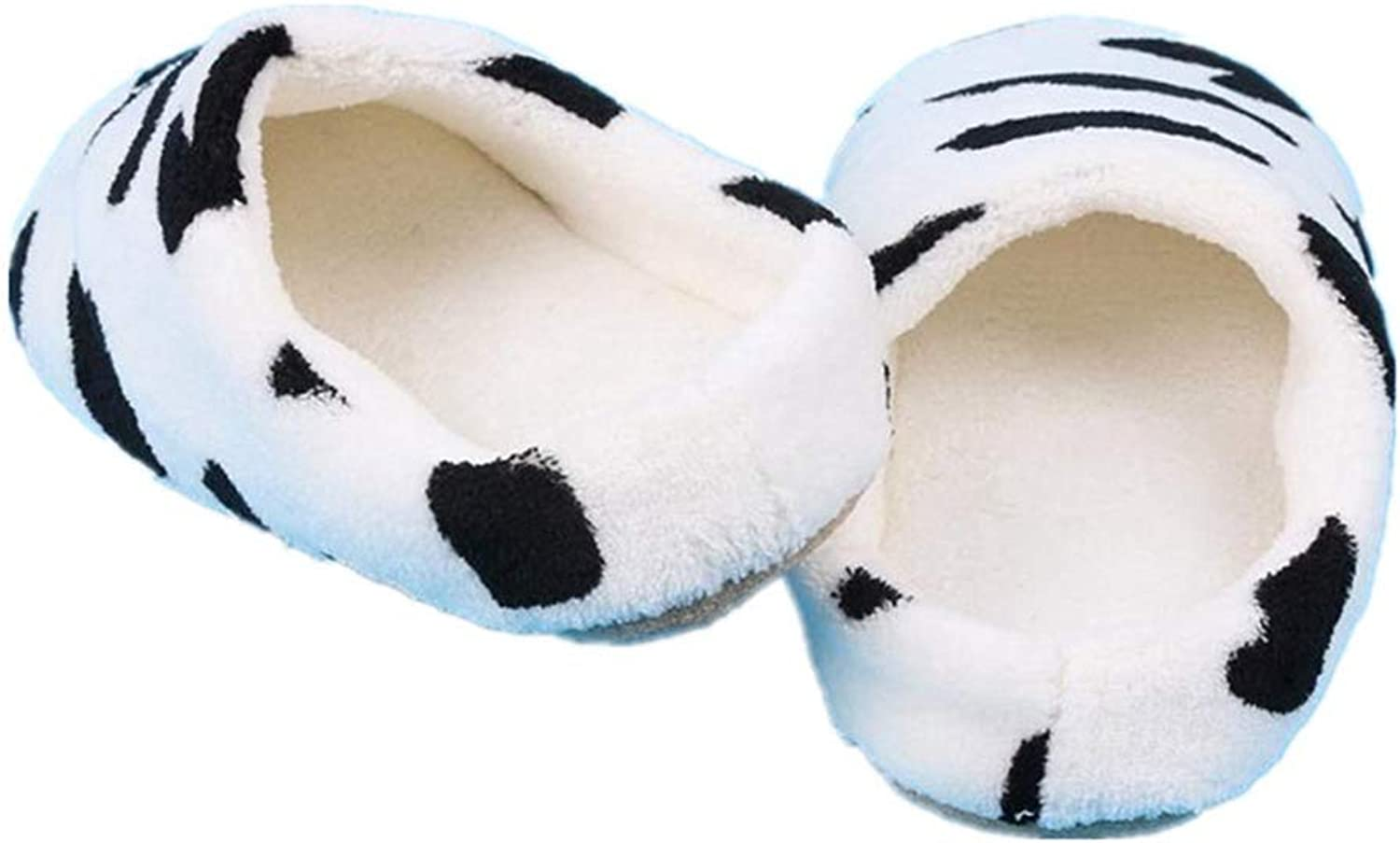 NOMIMAS Couple Winter Warm Slippers Women Soft Cotton Cow House Indoor Flats shoes
