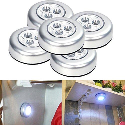 5Pcs Touch-Licht Nachtlicht FeiliandaJJ LED Lichter Kabellos Nachtlichter Haus Dekoration für Kinder Baby Schlafzimmer Wohnzimmer Batterie Angetrieben (Weiß)