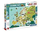 Clementoni- Exploring Maps Puzzle, 250 Piezas, Multicolor (29062.8)