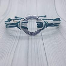 Cervical Cancer Awareness Bracelets LOVE,FAITH,HOPE By Mabuhay Bracelets.