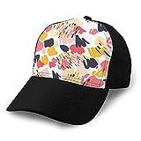 Holefg3b Gorras de béisbol cómodas garabatos de Moda sin patrón en Colores Pastel Sombreros Unisex