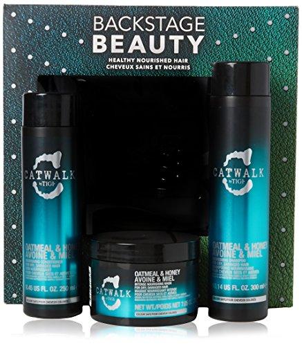 Tigi Limited Edition Oatmeal & Honey Shampoo + Conditioner + Mask für Glanz und seidige Geschmeidigkeit Geschenkset-Vorteilspack (300 ml+250 ml+200 ml)