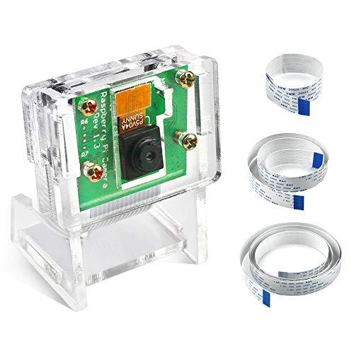 IZOKEE 1080P 5MP Kamera Modul für Raspberry Pi mit 15cm 50cm 100cm Flexkabel und Gehäuse für Raspberry Pi 4, 3, 3 B+ Zero W Model A/B/B+