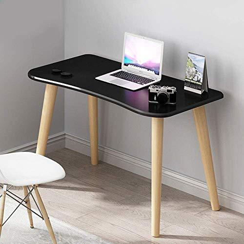 FSXJD Computer Desk Modern Wood Office Desk PC Laptop Table Conference table Study Desk For home Office-100x50x73cm Black