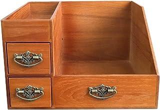 إكسسوارات المكياج تخزين درج خشبي متعدد الوظائف نوع خزانة أدوات ماكياج حامل سعة كبيرة مجوهرات صندوق عرض قديم