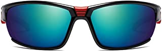 Fashion Colorful Gray/Green Lens Black Frame Men and Women with The Same Paragraph Polarized Sandstorm Sunglasses Outdoor Sports Riding Metal Material Sunglasses Retro (Color : Green)