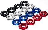 7th Gear Racing Premium Billet Aluminum Beauty Fender/Bumper/Bolt & Washer Engine Bay Dress Up Kit 8 Piece set (SILVER)