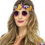 Anteojos de Sol Años 70 - Violeta   Gafas de Hippy   Lunetas Retro Años 60   Lentes John Lennon