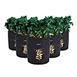 SimpleCarry Grow Bag, Breathable Fabric Plant Bag with Durable Handles, Aeration Fabric Pots for Garden, Indoors, Vegetables, Flowers | 5 pc per Set, Large