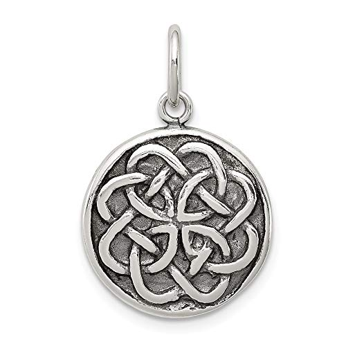 925 Sterling Silver Irish Claddagh Celtic Knot Pendant Charm Necklace Man Inspirational Luck Peace Support Fine Jewelry For Dad Mens Gifts For Him