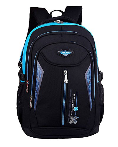 Escuela Mochila Portátil Backpack Casual Impermeable Mochila Niños Adolescentes Azul