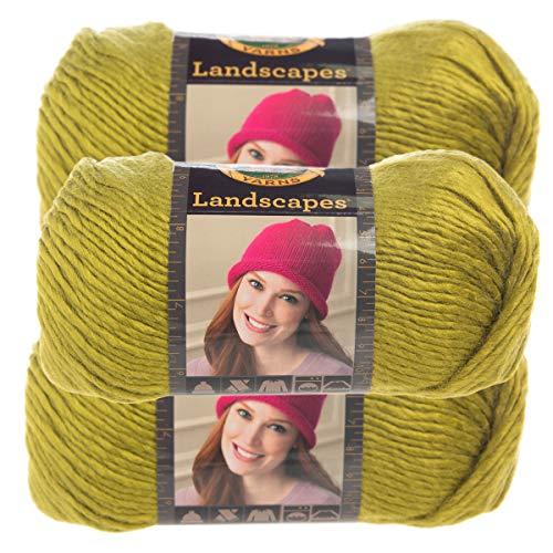 Lion Brand Yarn (3 Pack) Landscapes Yarn Acrylic 100 Percent Medium #4 Soft Yarn for Knitting Crocheting (Chartreuse)