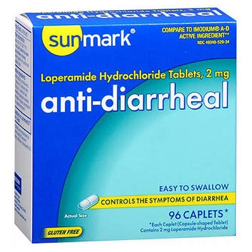 Sunmark Anti-Diarrheal Caplets - 96 ct, Pack of 2
