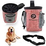 Xionghonglong Futterbeutel für Hunde,Hunde Leckerlie Tasche,Wasserdicht Futtertasche,Leckerlibeutel für Hunde,Hunde Futtertasche Beutel,für Hunde zur Hundetraining und Futteraufbewahrung (rot)