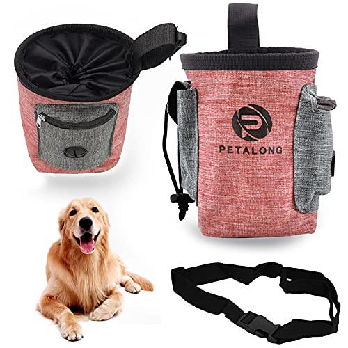 Xionghonglong Bolsas de Golosinas para Perros,Bolsa Premios Perro,Bolso Merienda Perro,Bolsa de Cintura Mascota Perro,Bolsa para Golosinas para Mascota,Bolsa de Comida para Perros (Rojo)