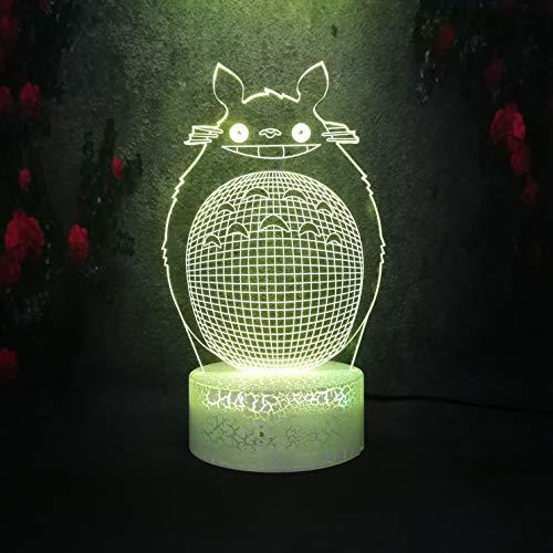 Anime Cartoon Hayao Miyazaki Comic Nette aufstehen Modell Led Birne Kind Beste Weihnachtsgeschenk 3D Nachtlicht Riss Lampe