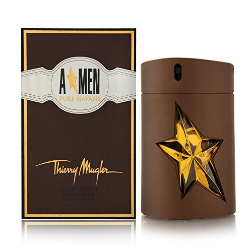 Thierry Mugler Eau de Toilette Spray, Angel Men Pure Havane, 3.4 Ounce