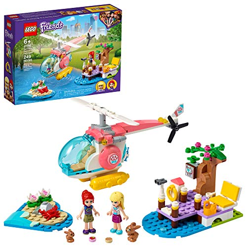 LEGO Friends Vet Clinic Rescue Helicopter 41692 Building Kit; Makes Great Birthday for Kids, New 2021 (249 Pieces)