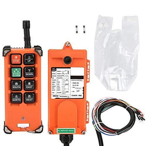 Grúa con 8 botones, F21-E1B Control remoto inalámbrico para grúa Transmisores de 380V Canal industrial Elevador eléctrico Interruptor de radio Interruptor de botón del receptor