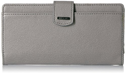 Relic by Fossil Women's RFID  RFID Bifold Wallet, Color: Smoke