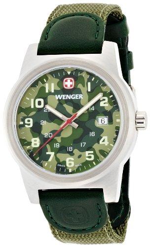 wenger 10441105 - Reloj analógico de Cuarzo para Hombre con Correa de Nylon, Color Verde