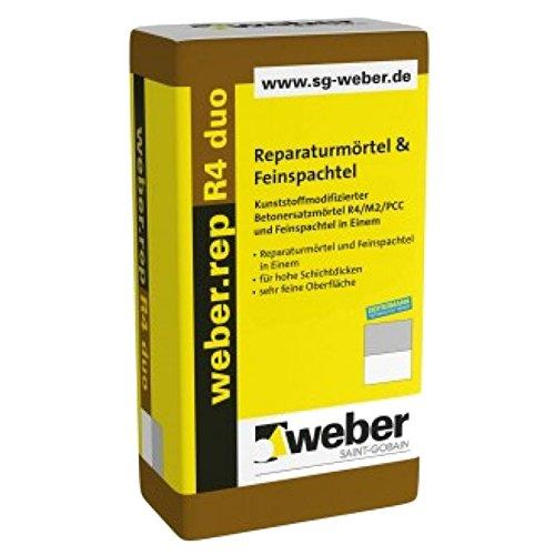 weber.rep R4 duo Reparaturmörtel & Feinspachtel zementgrau 20 kg
