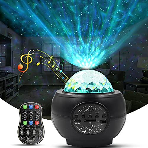 Light Projector for Room, 3 in 1 Night Light Galaxy Projector with 1800mAh Battery, Bluetooth Music Function, Remote Control, for Kid's Bedroom/ Party/ Home Decor/ Festival Gift
