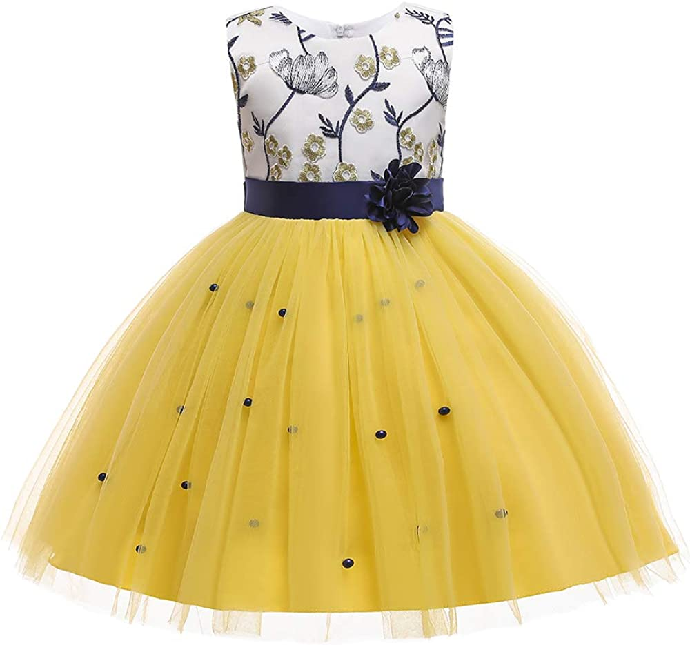 COMISARA 3M-9T Toddler Baby Girl Birthday Wedding Party Flower Dresses Tutu Gown Dress